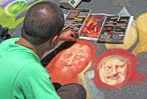 Ghouls Just Wanna Have Fun at Chalk Festival
