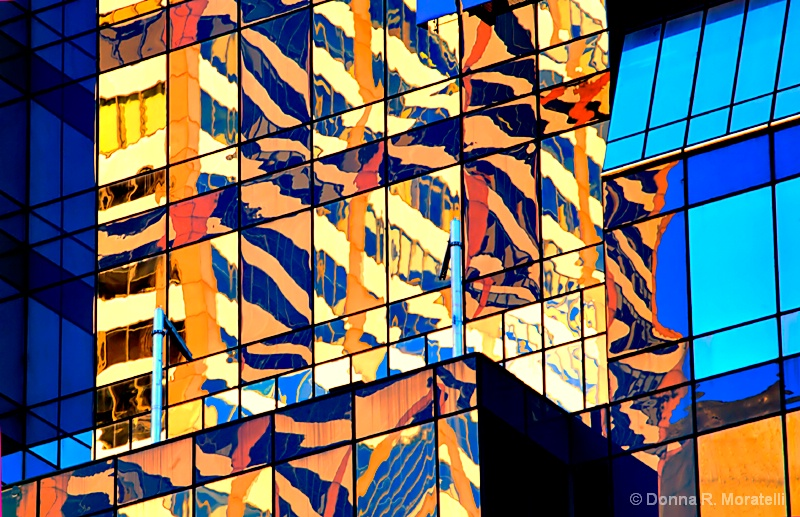 Colorful'Pop art' window reflections