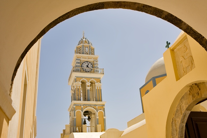 Bell tower at Thira