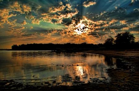 Sunrise Light Explosion