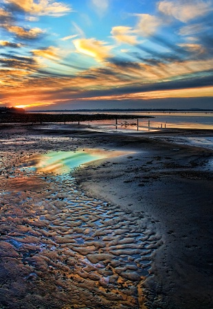 The Colors Of A Shoreline Sunset