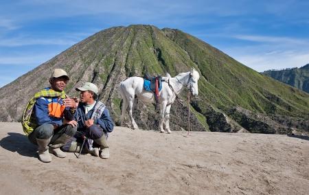 Mount Bromo's horsemen