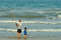 GRANDFATHER & GRANDSON FISHING