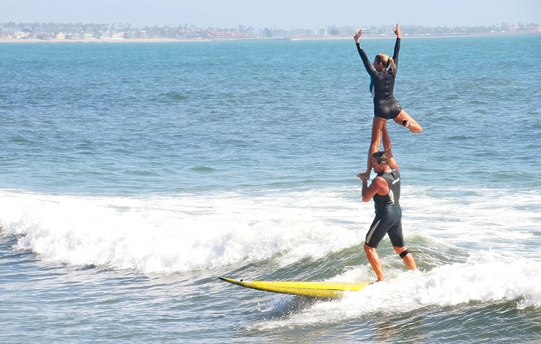 Tandem Tango in the Surf