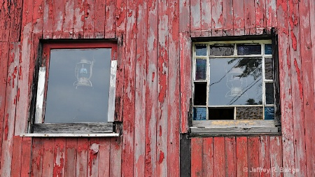 """Windows From An Old Little Red Caboose"""
