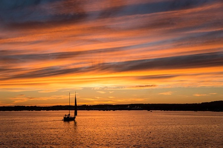 Rockland Harbor Sunset
