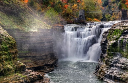 The Upper Falls of Letchworth