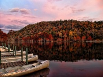 Canoes In Fall Color