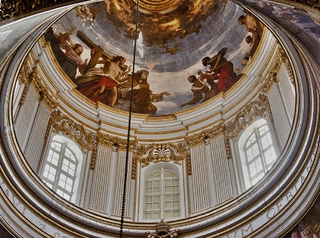 Interior of Dome in Co-Cathedral,Mdina, Malta