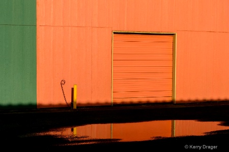 Colorful Warehouse & Rain Puddle