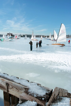 Ice Boats on the solid Navesink river.