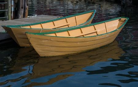 Yellow Boats at Dock, Nova Scotia
