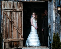 Bride In A Barn