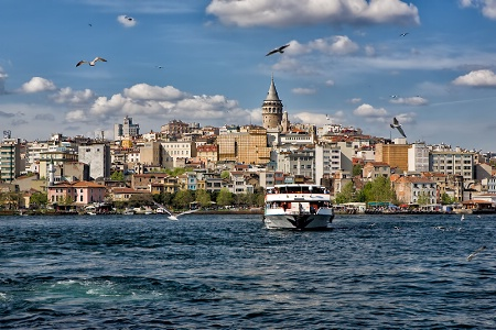 Bosphorus, Seagulls and Istanbul