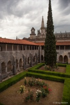 a cloister at Batalha