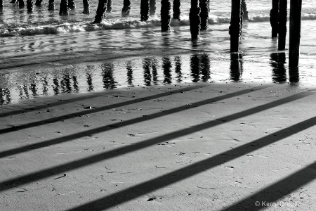 pier shadows   reflections