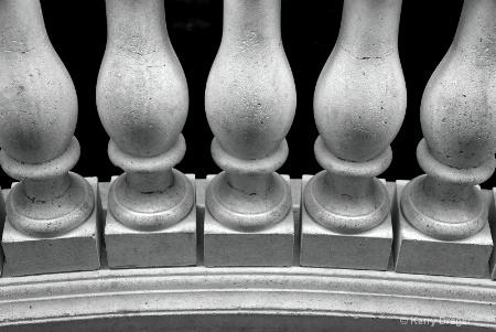 railing pattern at night