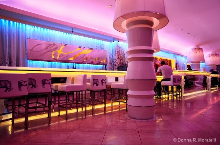 Colorful interior lighting design