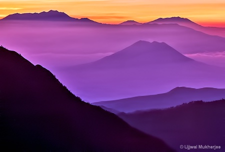 Sunrise over Mount Bromo's Landscape