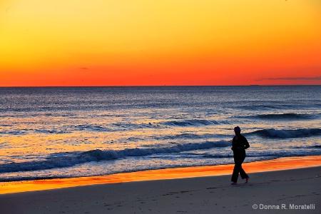 Seashore at sunrise