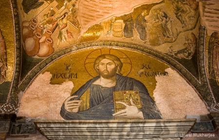 Mosaic work in Chora Museum