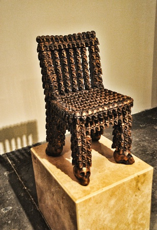 A  CHAIR  MADE  OF  SKULLS