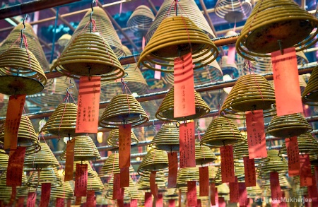Incense Coils of Man Mo Temple