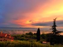 sunrise in Tuscan...