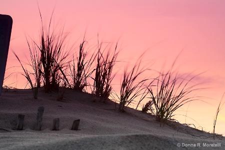 sand dune at dawn