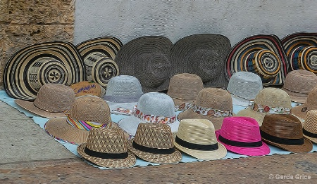 Hats for Sale in Cartagena, Colombia