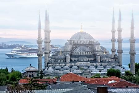Blue Mosque and Bosporus