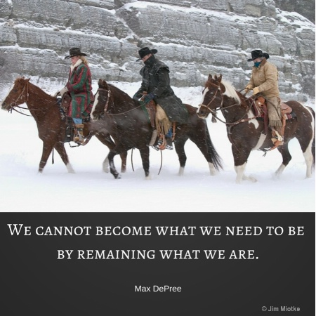 we cannot become what we need to be by