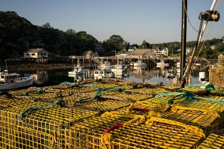 Lobster Traps and Lobster Boats