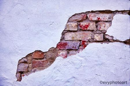Shelled Brick Wall