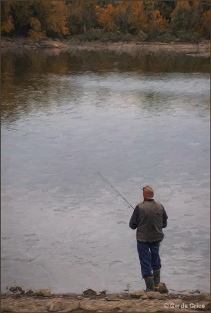Fishing at G. Ross Lord Park