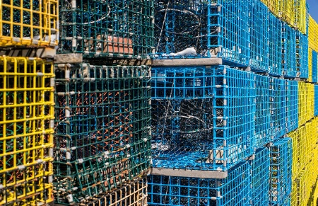A Wall of Lobster Traps