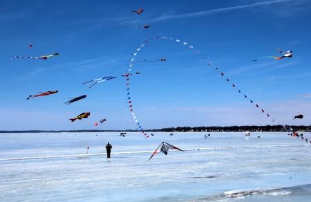 Kites At Clear Lake
