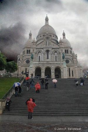 Rain at Sacre Couer