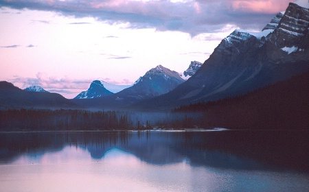 Waterfowl Lake Sunset