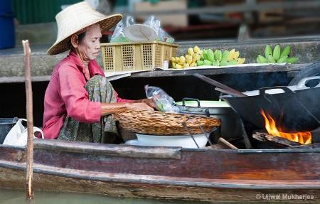 Floating Market Food Seller
