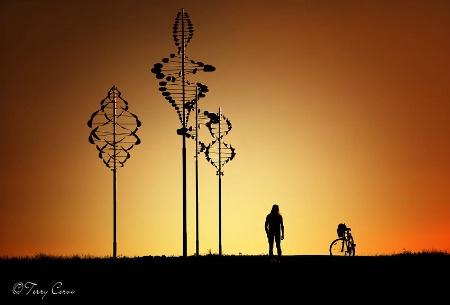 Biker at Wilkeson Point