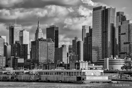 New York City Skyline See from Cruise Ship