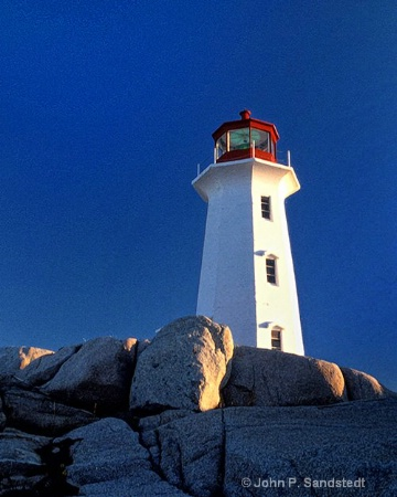 Late Afternoon at Peggy's Cove Light