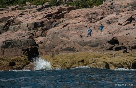Exploring the Cliffs in Acadia National Park