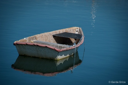 Little Boat in Rockport Harbour