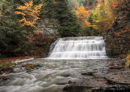 The Middle Falls of Stony Brook