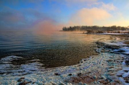 An Icy Morning At The Lake