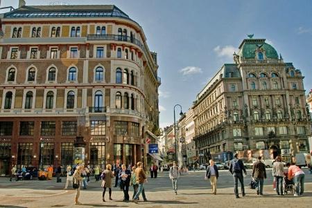 Street corner in Vienna