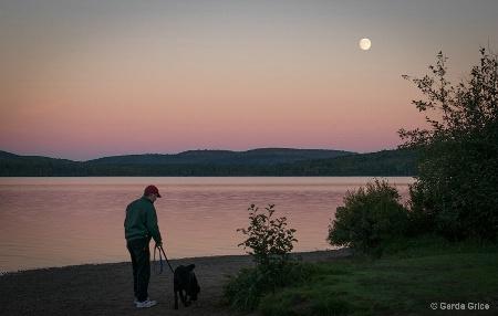 Moon Rising at Lake of Two Rivers