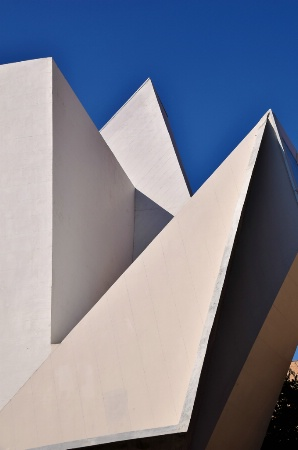 WHITE  GEOMETRY  OVER  BLUE